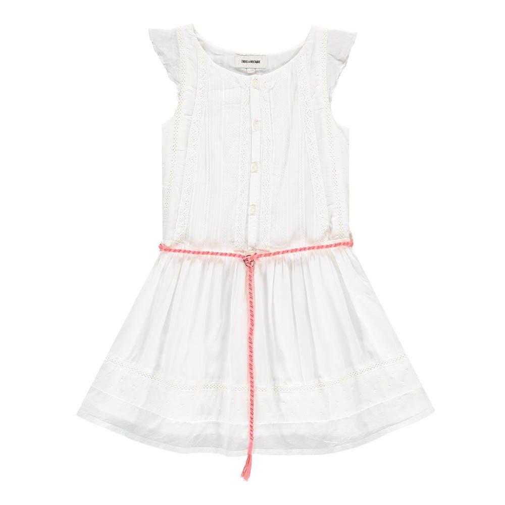 Kleid mit Knöpfe Roxanne Weiß Zadig   Voltaire Mode Teenager , cb28670572