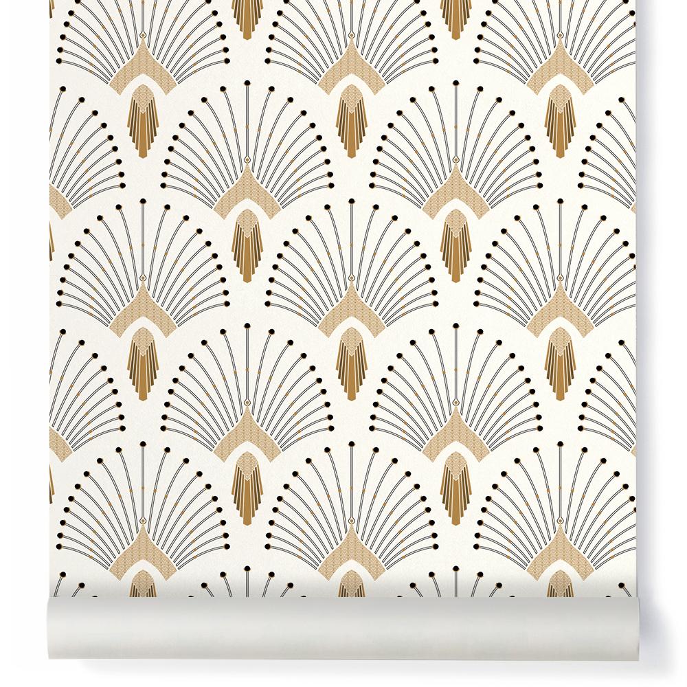 papier peint 1925 traditional beige papermint design enfant. Black Bedroom Furniture Sets. Home Design Ideas