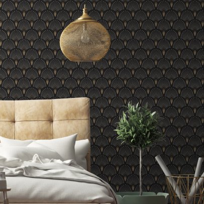 papier peint wild noir domestic design enfant. Black Bedroom Furniture Sets. Home Design Ideas