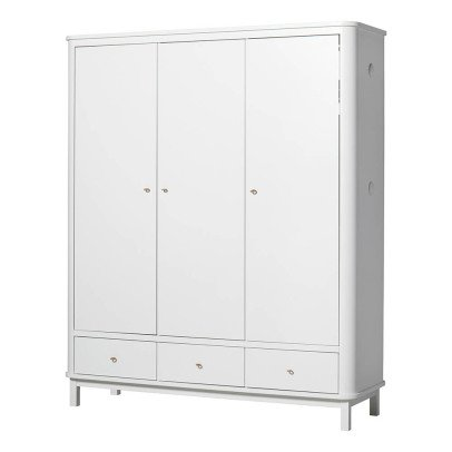 Oliver Furniture 3 Door Birch Wardrobe-listing