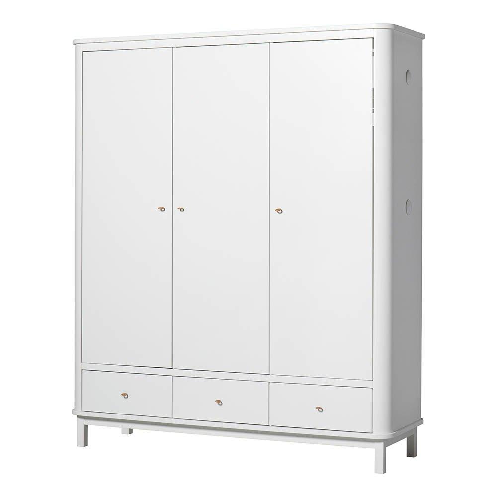 Armadio 3 ante in betulla Bianco Oliver Furniture Design Bambino
