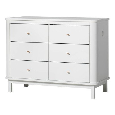 Oliver Furniture Commode 6 tiroirs en bouleau-listing