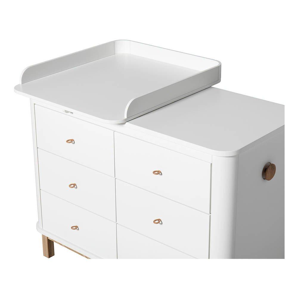 Plan langer petit pour commode 6 tiroirs blanc oliver - Plan a langer pour commode ...