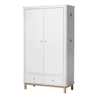 Oliver Furniture 2 Door Oak Wardrobe-listing