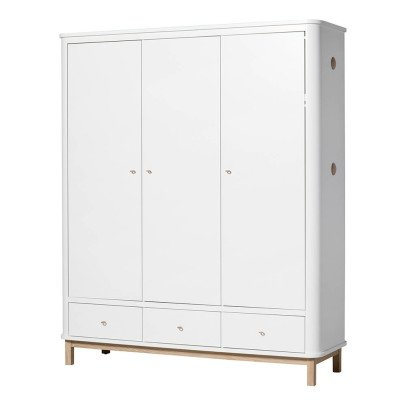 Oliver Furniture 3 Door Oak Wardrobe-listing