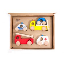 product-Bajo Set of 4 Emergancy Cars