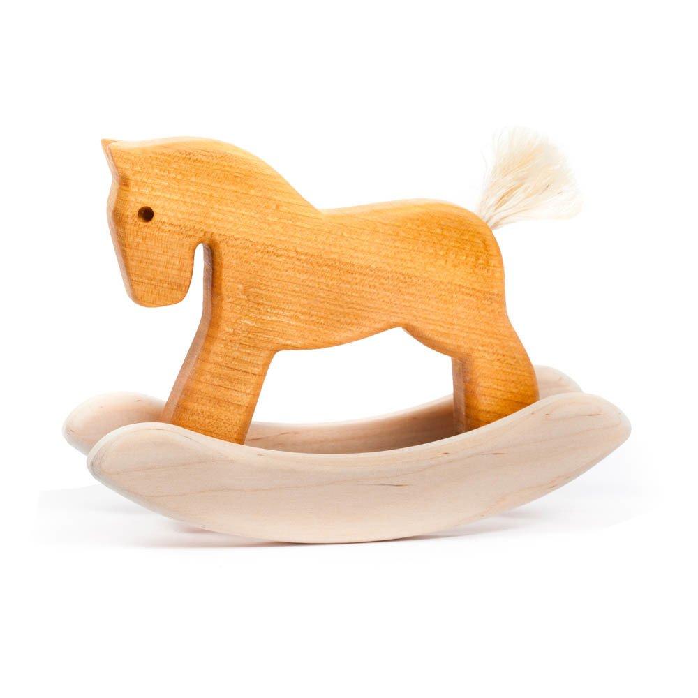 petit cheval bascule en bois naturel bajo jouet et loisir. Black Bedroom Furniture Sets. Home Design Ideas