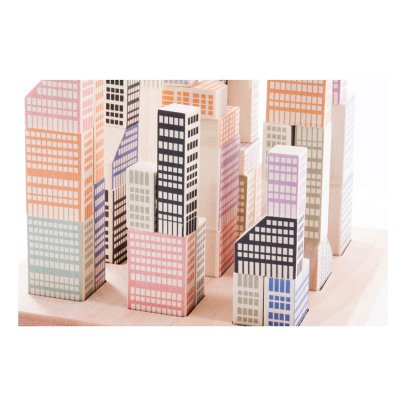 Bajo Manhatten Wooden Cubes - 54 Pieces-listing