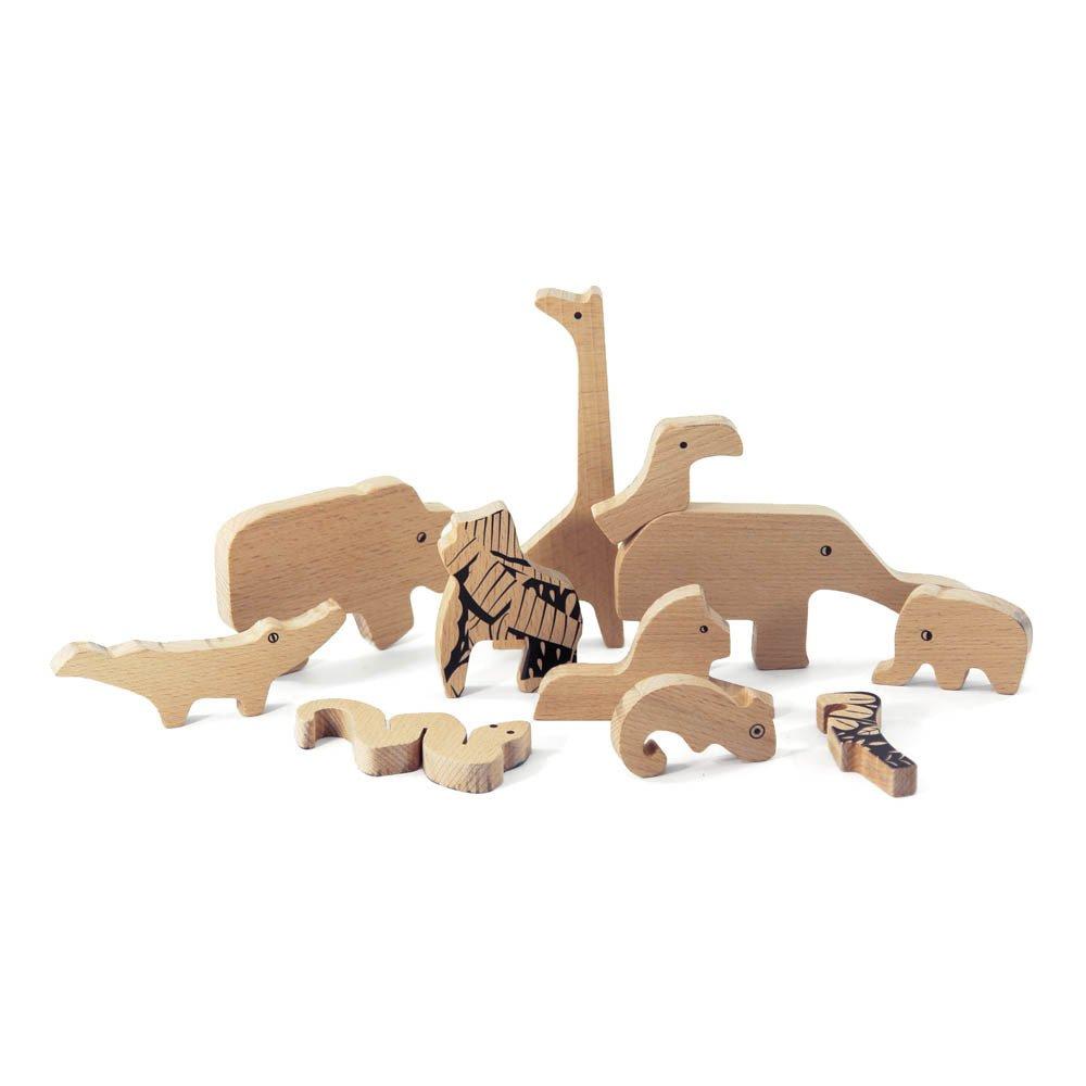 puzzle de la jungle en bois naturel bajo jouet et loisir enfant. Black Bedroom Furniture Sets. Home Design Ideas
