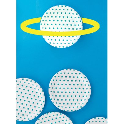 My Little Day Blue Star Paper Plates - Pack of 8-listing