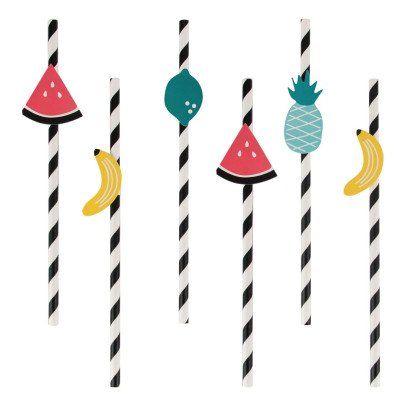 My Little Day Fruit Paper Straws - Set of 12-listing