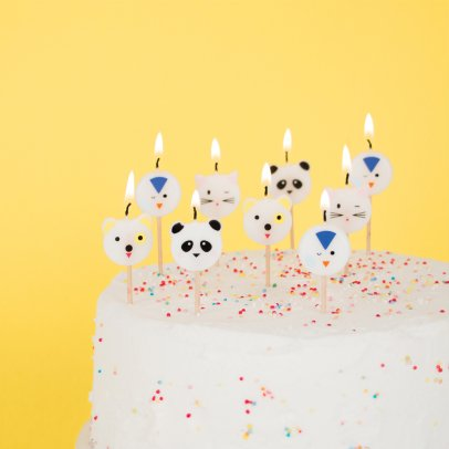 My Little Day Animal Birthday Candles - Set of 8-listing