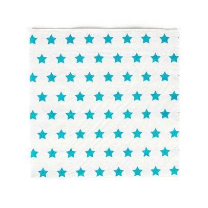 My Little Day Serviettes en papier étoiles bleues - Lot de 20-listing