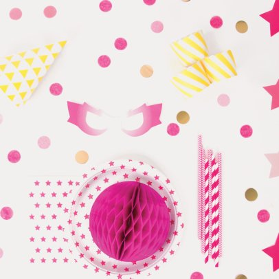 My Little Day Servilletas de papel estrellas fucsia - Lote de 20-listing