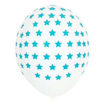 My Little Day Blue Star Latex Balloons - Pack of 5-listing