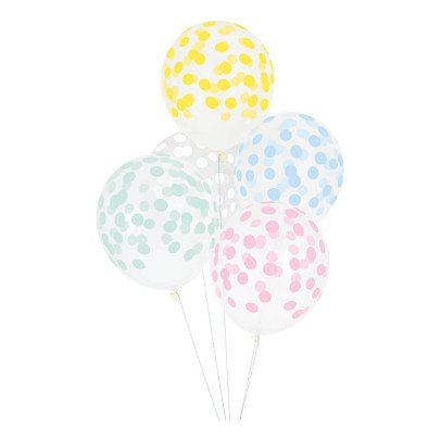 My Little Day Printed Confetti Balloons - Set of 5-listing