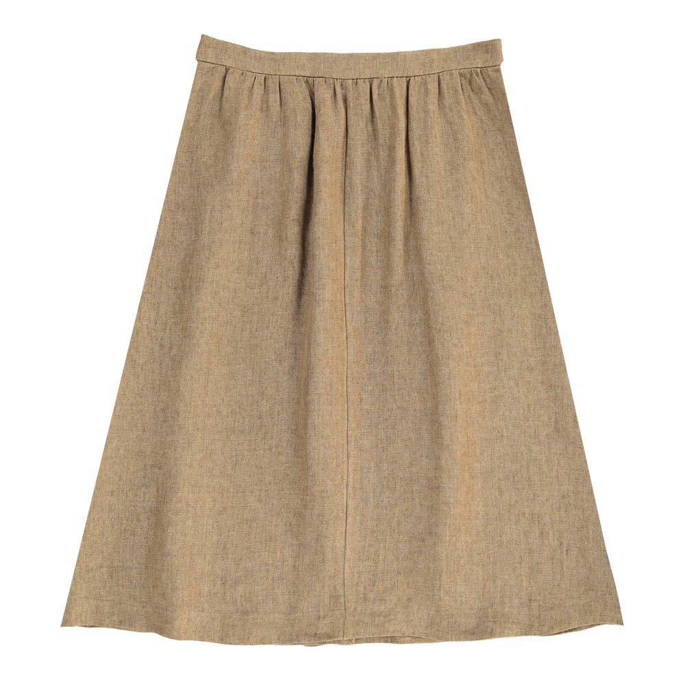 linen button up maxi skirt beige masscob fashion