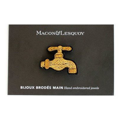 Macon & Lesquoy Embroidered Tap Brooch-listing