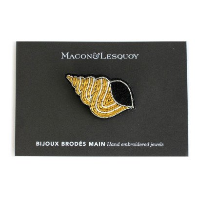 Macon & Lesquoy Shell Brooch-listing