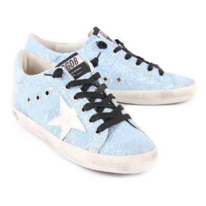 Golden Goose Baskets Basses Lacets Glitter Superstar-listing