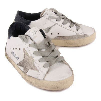 Golden Goose Superstar Lace-Up Leather Trainers-listing
