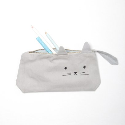 Fabelab Organic Cotton Cat Pencil Case - 22x12cm-listing