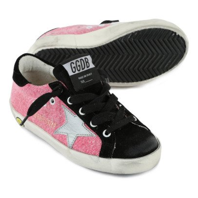 Golden Goose Deluxe Brand Superstar Lace-Up Canvas Trainers-listing