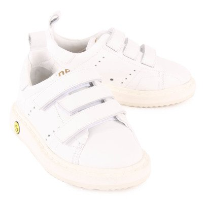 Golden Goose Smash Leather Velcro Trainers-listing