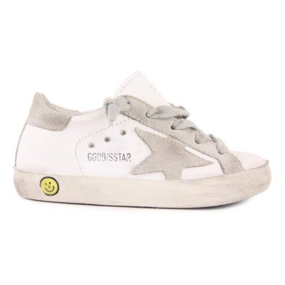 Golden Goose Beige Superstar Lace-Up Leather Trainers-listing