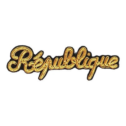 Macon & Lesquoy Hand Embroidered Republic Badge-listing