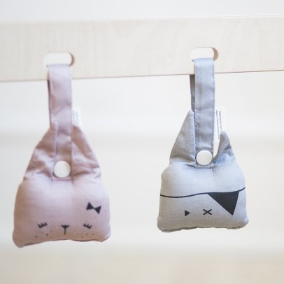 Fabelab Organic Cotton Hanging Bunny Rattle - 10x10cm-listing