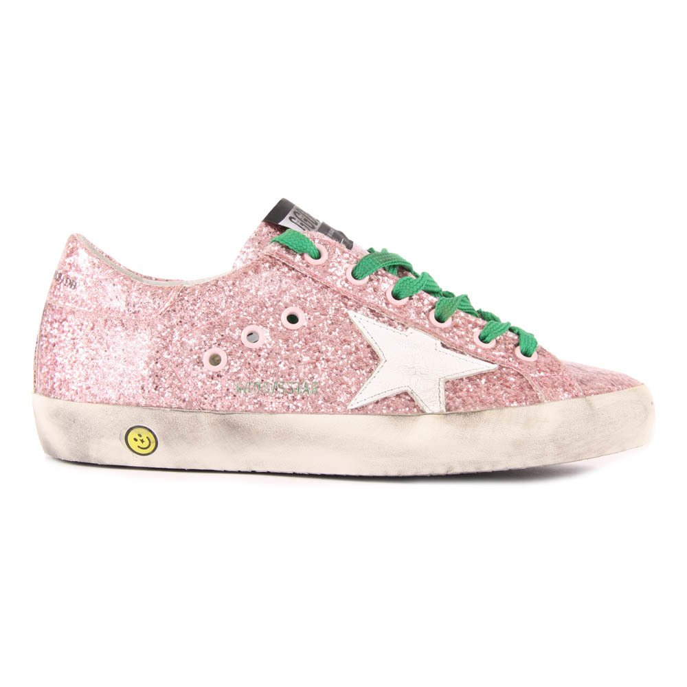 Superstar Glitter Lace-Up Trainers-product