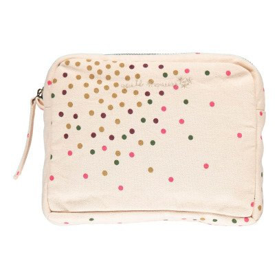 Polder Girl Ecru Toiletry Bag 29x19cm - Multi-Coloured Dots-listing