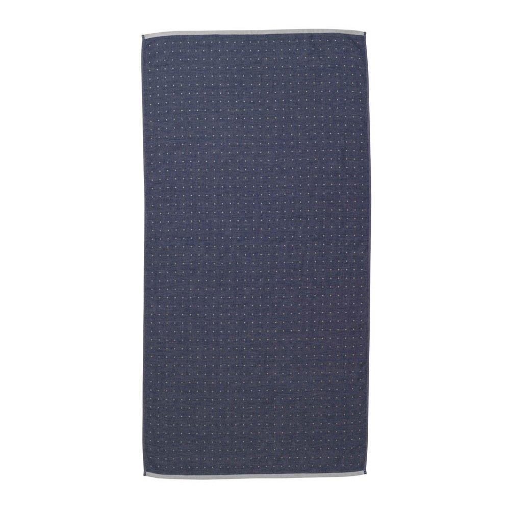 Sento Organic Cotton Bath Towel Blue Ferm Living Design Adult