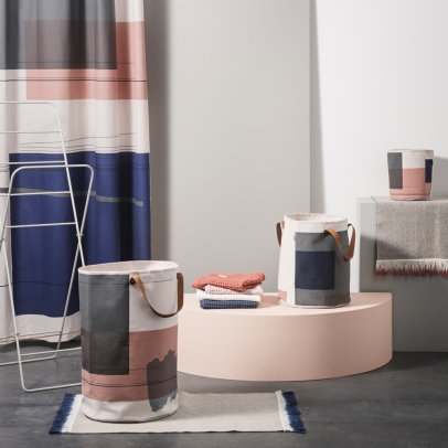 Ferm Living Cesto in tessuto Color Block-listing