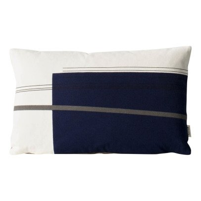 Ferm Living Coussin déhoussable Colour Block n°2 en coton organique-listing