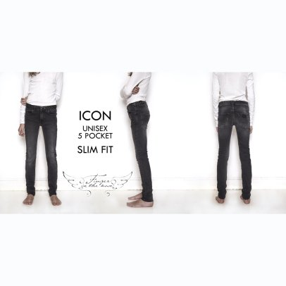 Finger in the nose Jean Slim Icon-product