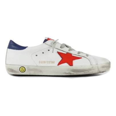 Golden Goose Deluxe Brand Sneakers Lacci Pelle Tricolore-listing