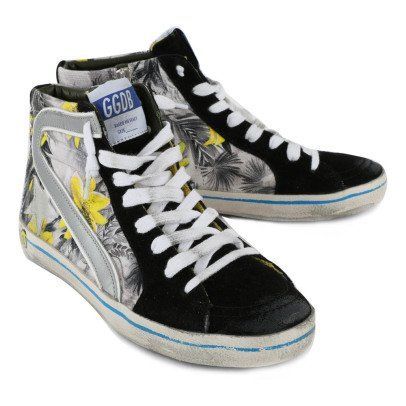 Golden Goose Slide Printed Zip and Lace-Up Trainers-listing