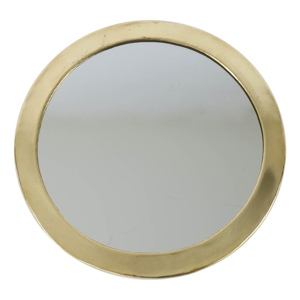 Miroir rond en m tal dor smallable home design adulte for Miroir en metal
