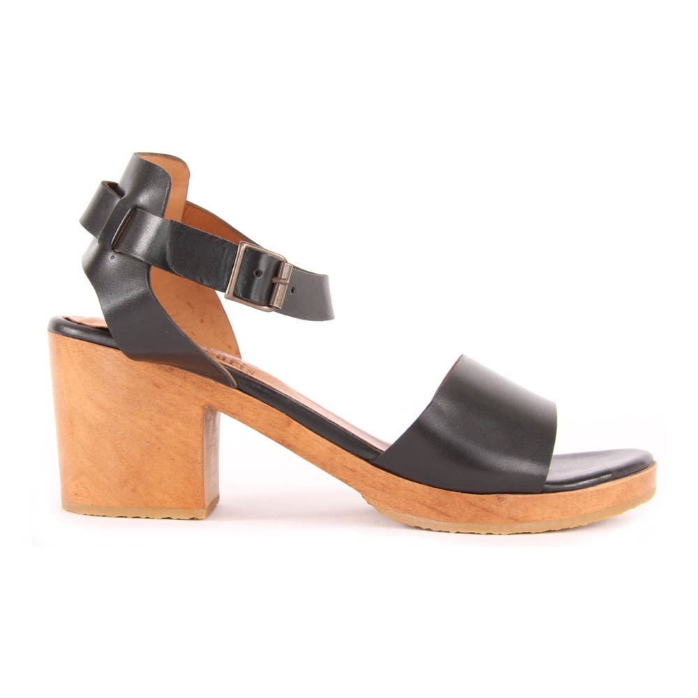 Sale - Antigone Crossed Leather Heeled Sandals - Anthology Paris Anthology Paris tDxrh
