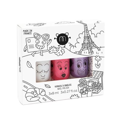 Nailmatic Kids Set of 3 Nail Varnishes - City Super, Kitty, Piglou-listing