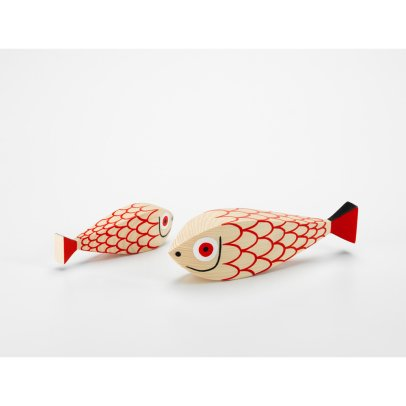 Vitra Decorazione in legno Mother fish and child - Alexander Girard, 1952-listing