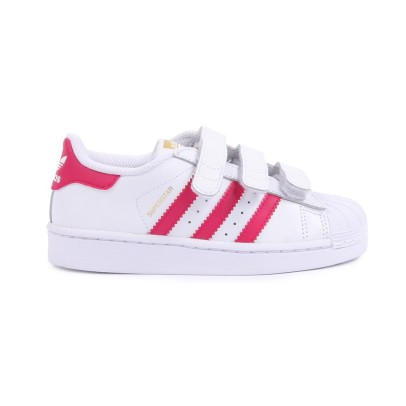 Adidas Superstar Foundation Pink Velcro Trainers-product