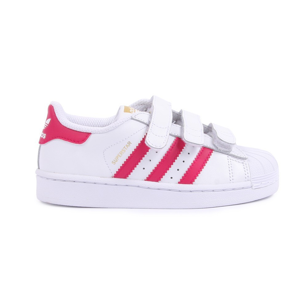 Superstar Foundation Pink Velcro Trainers-product