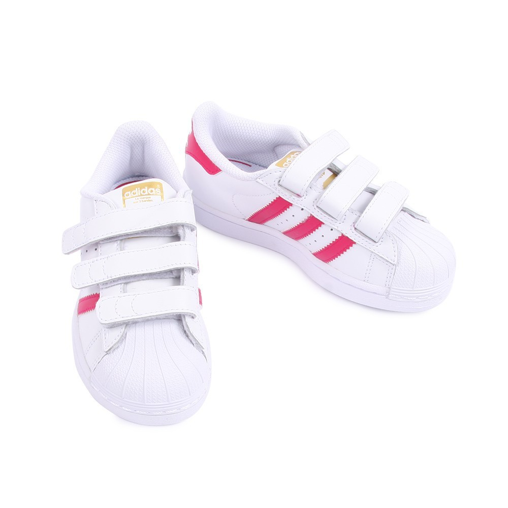 Kjøp adidas Originals Superstar Foundation Jr White/Bold Pink Hvit