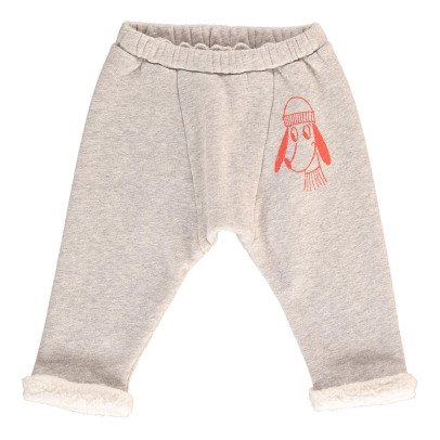 Bobo Choses Organic Cotton Wolf Jogging Bottoms-listing