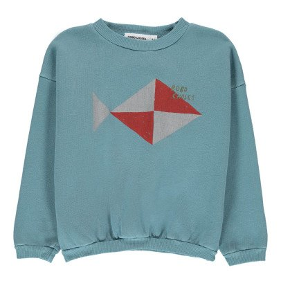 Bobo Choses Organic Cotton Fish Sweatshirt-listing