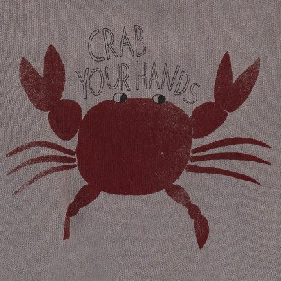Bobo Choses Organic Cotton Crab Sweatshirt-listing