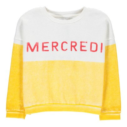 Bobo Choses Organic Cotton Mercredi Sweatshirt-listing